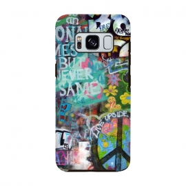 Galaxy S8  Graffiti Text And Peace Sign by Andrea Haase