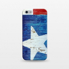 iPhone 5/5E/5s  Texas Flag On Distressed Metal by Andrea Haase