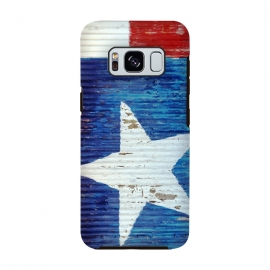 Galaxy S8  Texas Flag On Distressed Metal by Andrea Haase