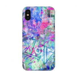 iPhone X  Colorful Grafitti by Andrea Haase