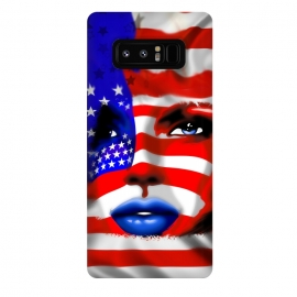 Galaxy Note 8  Usa Flag on Girl's Face by BluedarkArt