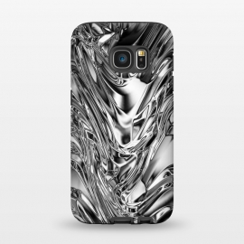Galaxy S7  Silver Aluminium Molten Metal Digital Texture by BluedarkArt (silver, pattern, glowing, hot, cold, aluminum, metal, metallic, grey, stain, tin, steel, dissolved, light, bright, shiny, glossy, effect, smooth, sleek, chic, fabric, plain, liquid, molten)