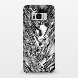 Galaxy S8+  Silver Aluminium Molten Metal Digital Texture by BluedarkArt