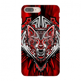 iPhone 8/7 plus  Wolf Tattoo Style Haida Art by