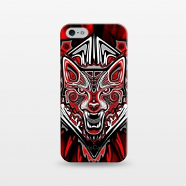 iPhone 5/5E/5s  Wolf Tattoo Style Haida Art by BluedarkArt