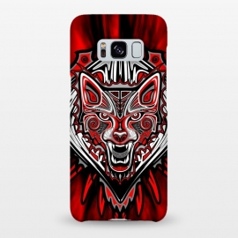 Galaxy S8+  Wolf Tattoo Style Haida Art by BluedarkArt