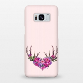 Galaxy S8+  Bohemian Watercolor Illustration - Heart and Antler by Utart
