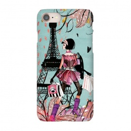 iPhone 8/7  Fashion Girl in Paris by Utart