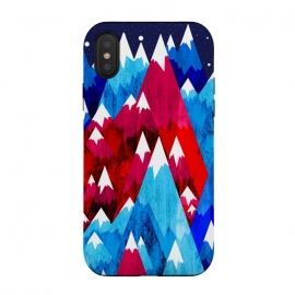 iPhone Xs / X  Blue Peak Mountains by