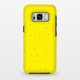 Galaxy S8+  YELLOW DOTS PATTERN 1 by MALLIKA