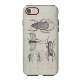 iPhone 8/7  Vintage Beetles And Bugs by Andrea Haase