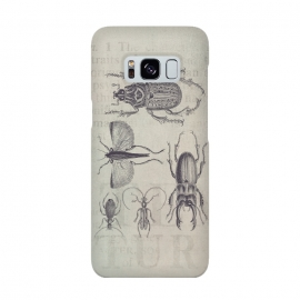 Galaxy S8  Vintage Beetles And Bugs by Andrea Haase