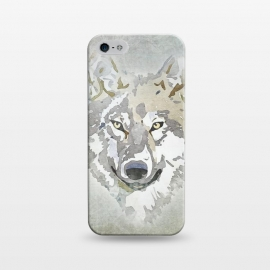 iPhone 5/5E/5s  Wolf Head Watercolor Art by Andrea Haase