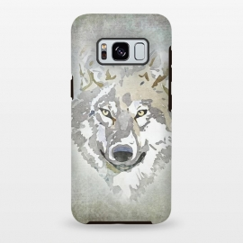 Galaxy S8+  Wolf Head Watercolor Art by Andrea Haase