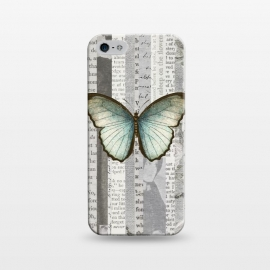 iPhone 5/5E/5s  Vintage Butterfly Paper Collage by Andrea Haase