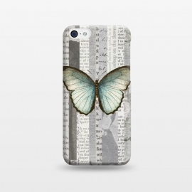 iPhone 5C  Vintage Butterfly Paper Collage by Andrea Haase