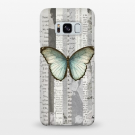 Galaxy S8+  Vintage Butterfly Paper Collage by Andrea Haase
