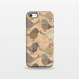 iPhone 5C  Patchwork Bird Pattern by Andrea Haase