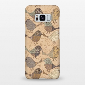 Galaxy S8+  Patchwork Bird Pattern by Andrea Haase