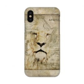 iPhone X  Lion King Of Africa Collage by Andrea Haase