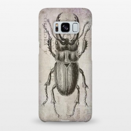 Galaxy S8+  Stag Beetle Vintage Mixed Media Art by Andrea Haase