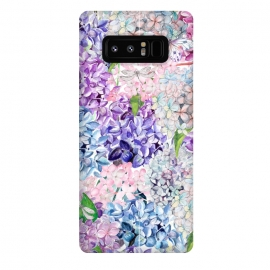 Galaxy Note 8  Spring Hydrangea Pattern by Utart