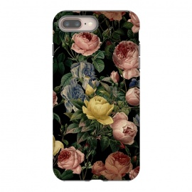 Victorian Vintage Roses on Black by Utart