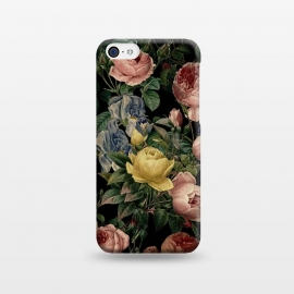 iPhone 5C  Victorian Vintage Roses on Black by Utart