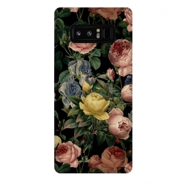 Galaxy Note 8  Victorian Vintage Roses on Black by