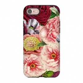 iPhone 8/7  Peonies and other Spring Flower pattern by Utart
