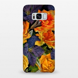 Galaxy S8+  Clematis and Yellow Vintage Roses by Utart