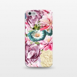 iPhone 5/5E/5s  Beautiful Pastel Vintage Spring Flowers by