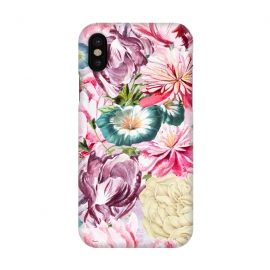 iPhone X  Beautiful Pastel Vintage Spring Flowers by Utart