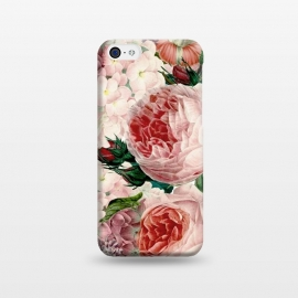 iPhone 5C  Roses and Hydrangea Pattern by Utart