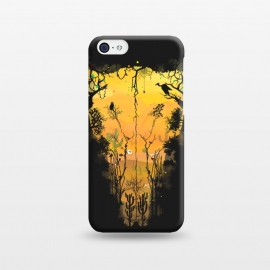 iPhone 5C  Dark Desert Cow Skull by Sitchko Igor