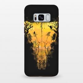 Galaxy S8 plus  Dark Desert Cow Skull by  (Dark, Desert, Cow, Skull, Skeleton, Animals, Birds, Horror, Snakes, owl, Nature, Cactus, Mexican, Southwest, Western, Cowboy, Mixed art, Illusion, Sand, Sands, Wild, Apocalypse)