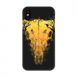 iPhone X  Dark Desert Cow Skull by Sitchko Igor