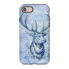 iPhone 8/7  Blue Nostalgic Deer by Andrea Haase