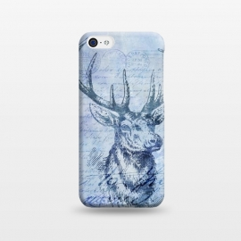 iPhone 5C  Blue Nostalgic Deer by Andrea Haase