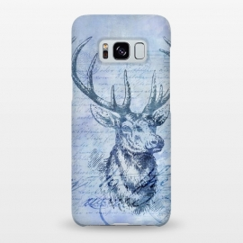 Galaxy S8+  Blue Nostalgic Deer by Andrea Haase