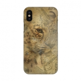 iPhone X  Cheetah Vintage Style by Andrea Haase