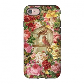 iPhone 8/7  Vintage Bird Cage and Flowers by Andrea Haase