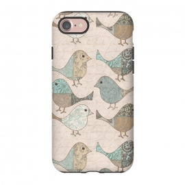 iPhone 8/7  Cute Patchwork Birds by Andrea Haase