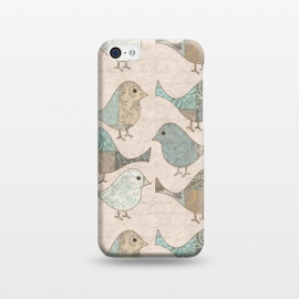 iPhone 5C  Cute Patchwork Birds by Andrea Haase