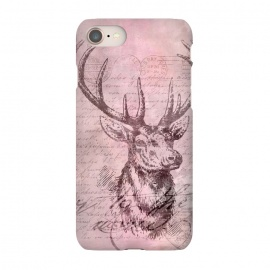 iPhone 8/7  Vintage Deer Pastel Pink by Andrea Haase