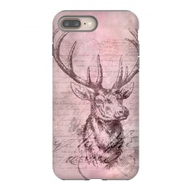 iPhone 8/7 plus  Vintage Deer Pastel Pink by Andrea Haase