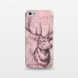 iPhone 5/5E/5s  Vintage Deer Pastel Pink by Andrea Haase