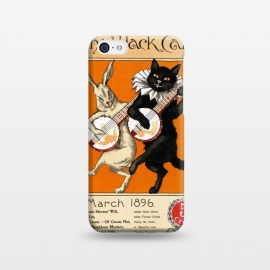 iPhone 5C  Cat And Rabbit Vintage Poster by Andrea Haase