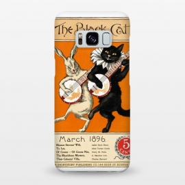 Galaxy S8+  Cat And Rabbit Vintage Poster by Andrea Haase
