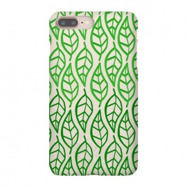iPhone 8/7 plus  leaf pattern green by MALLIKA